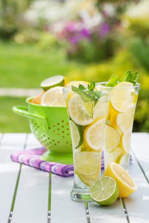 sunny cold days: Homemade lemonade with fresh citruses