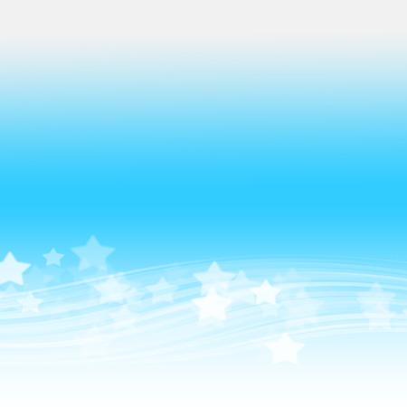 별과 추상 블루 웨이브 휴일 배경