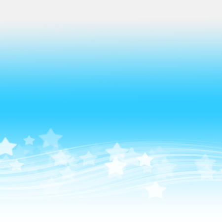 Abstract blue wave holiday background with stars Stock fotó