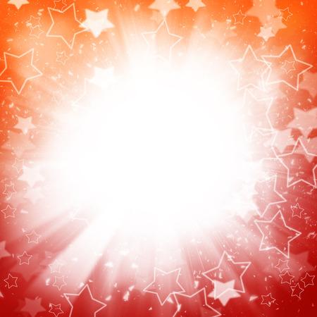 Abstracte vakantie achtergrond met sterren en lightbeams