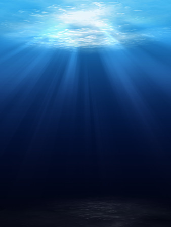 日光と水中シーンの背景