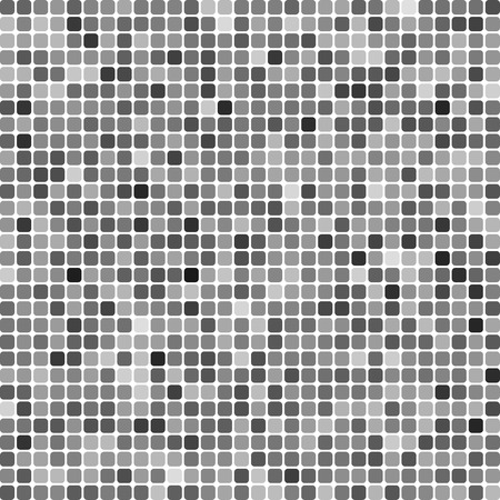Abstract pixel mosaic gradient grayscale background