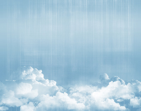 above clouds: Blue sky above clouds grunge background