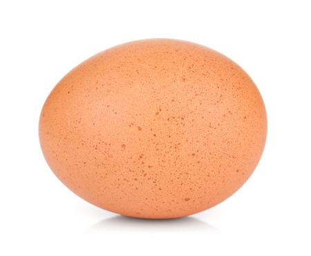 yolk: Egg. Isolated on white background Stock Photo