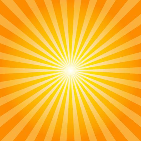 sunburst: Orange rays texture background illustration Illustration