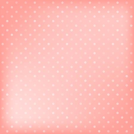 Polka dot pink background. Vector illustration Vector
