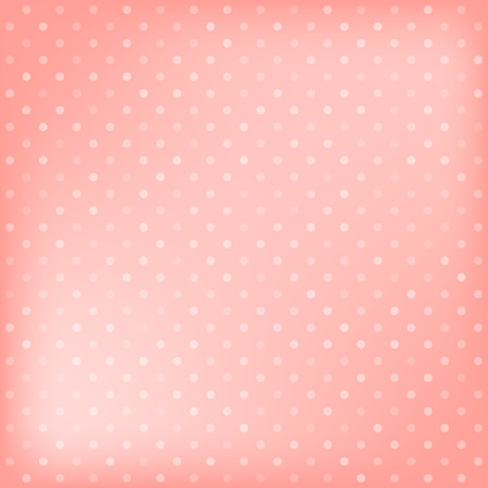 Polka dot pink background. Vector illustration Vector