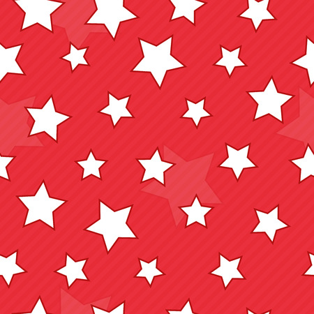 Red seamless background with stars Vector