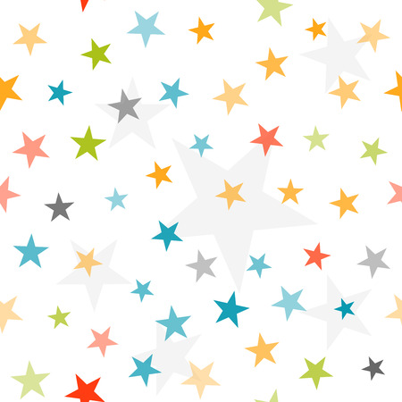 Colorful stars seamless background. Vector illustration Vector