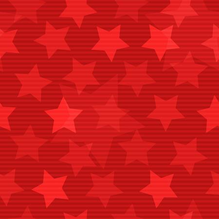 星とシームレスな背景が赤  イラスト・ベクター素材