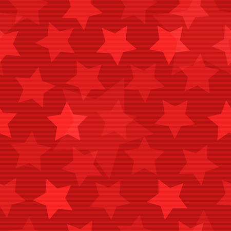 Red seamless background with stars Ilustração