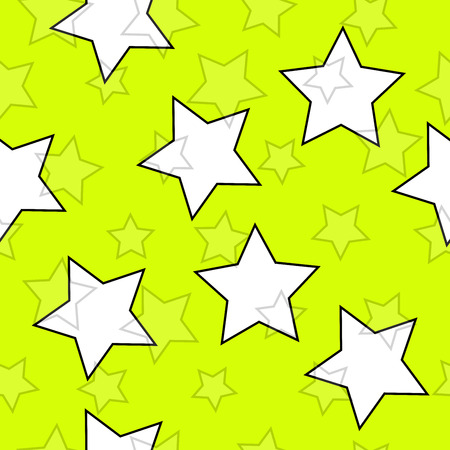 Yellow seamless background with stars Vector