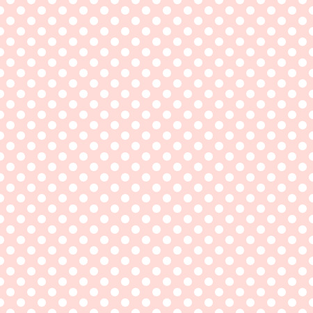 Seamless pink polka dot background pattern Vector