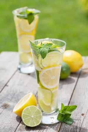frozen drink: Homemade lemonade with fresh citruses