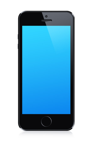 Black modern smart phone illustration. Perfectly detailed. Isolated on white background illustration