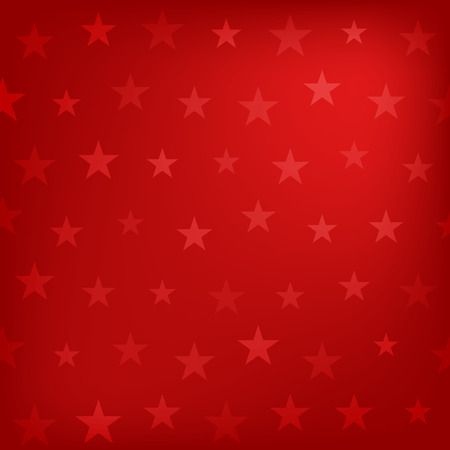 Red stars pattern background.  Vector