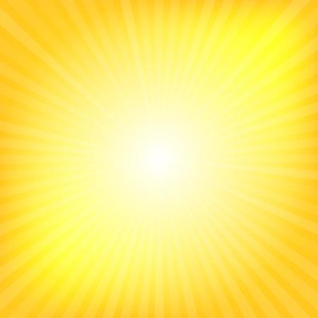Gele stralen textuur achtergrond afbeelding Stock Illustratie