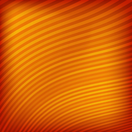 orange texture: Abstract striped wave background. Vector illustration