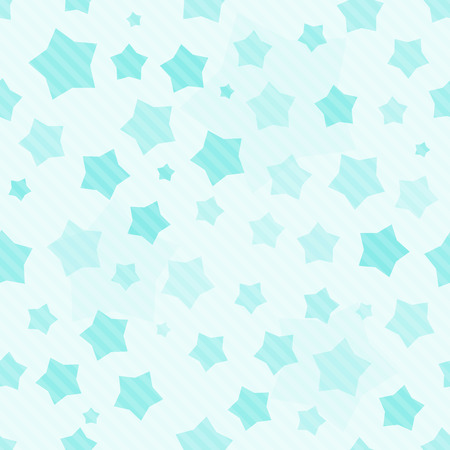 Blue seamless striped background with stars Vector