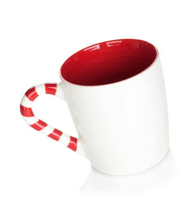 christmas tea: Christmas mulled wine cup. Isolated on white background