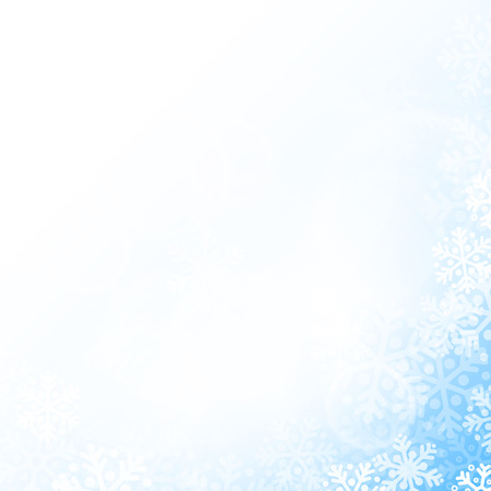 Abstract blue and white christmas snowflakes background with copy space Vector