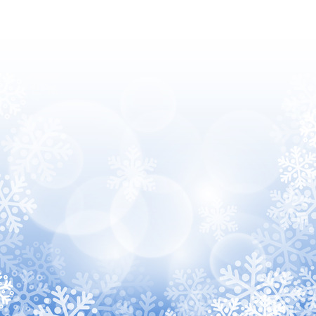 Abstract blue christmas background with snowflakes Vector