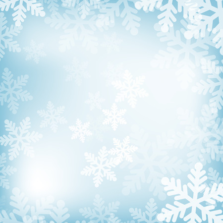 blue star background: Abstract blue and white christmas background with snowflakes
