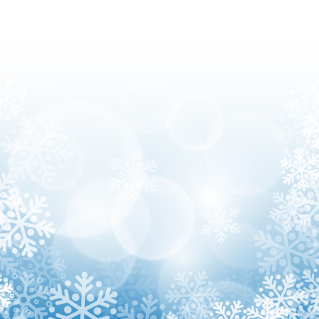 snowflake background: Abstract blue christmas background with snowflakes