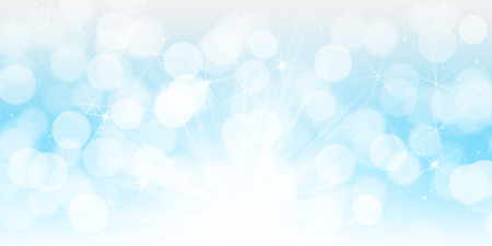 Blurred bokeh christmas background with snowflakes Stock Photo