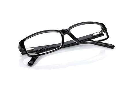 メガネ。白い背景に分離