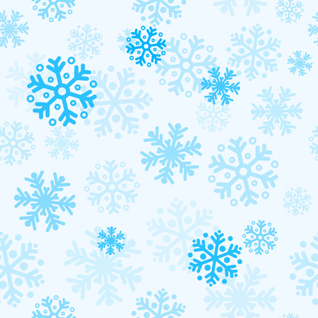 Abstract blue christmas seamless pattern background with snowflakes Vector