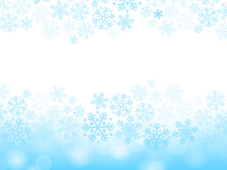 눈송이와 추상 블루 크리스마스 배경 일러스트