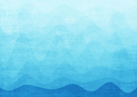 抽象的なブルー グラデーション波背景 写真素材