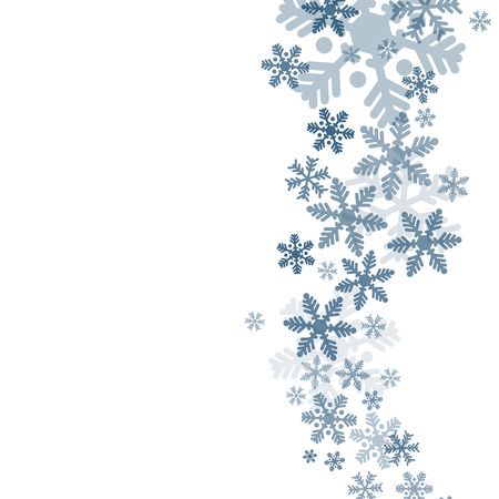 Abstract blue christmas background with snowflakes