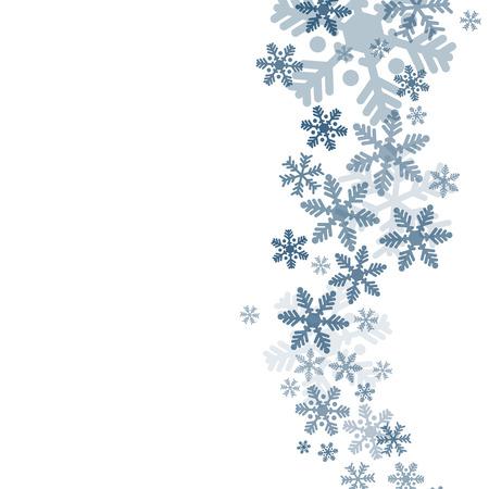 Abstract blue christmas achtergrond met sneeuwvlokken