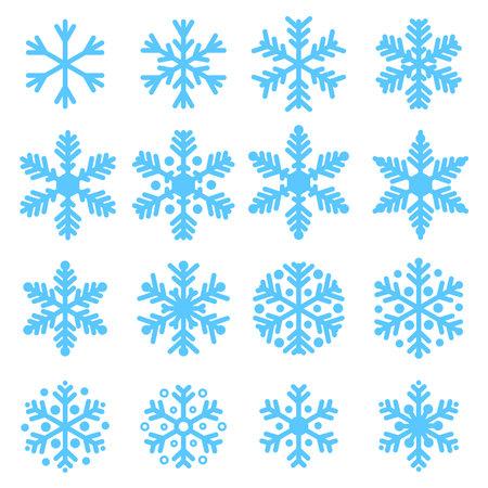 Various winter snowflakes set Illustration