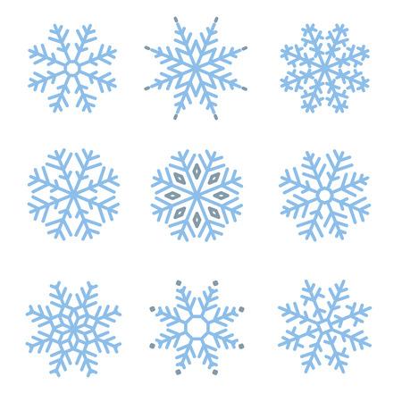 snowflake set: Various winter snowflakes vector set