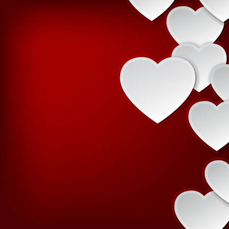 Valentines day background with hearts and copy space Vector