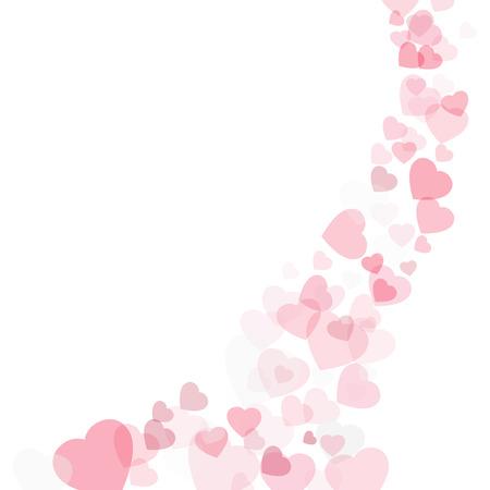 San Valentín de fondo día con corazones