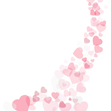 Valentines day background with hearts Ilustracja