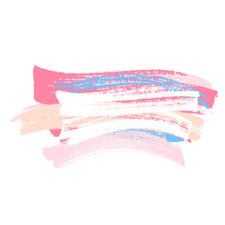 Colorful paint brush strokes background