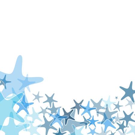 Kleurrijke zee zeester illustratie over een witte achtergrond