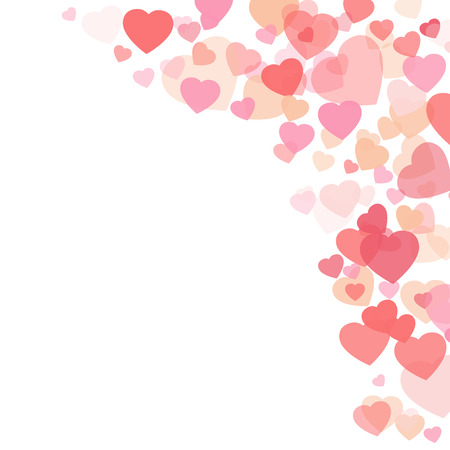 Valentines day background with hearts Ilustração