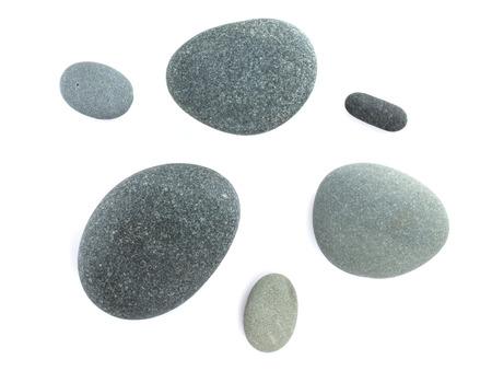 Sea stones. Isolated on white background photo