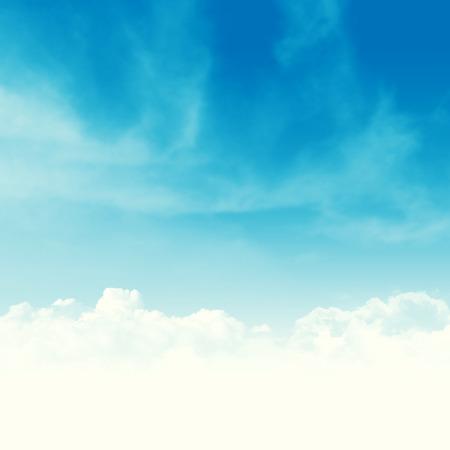 青い空と雲の抽象的なコピーの領域と背景イラスト 写真素材