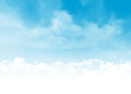Blue sky and clouds abstract background illustration with copy space illustration