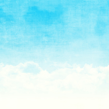blue toned: Blue sky and clouds abstract grunge background illustration with copy space Stock Photo