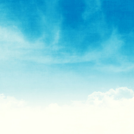 Blue sky and clouds abstract grunge background illustration with copy space Фото со стока