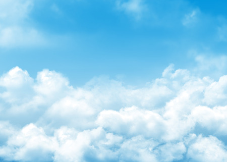 Blue sky and clouds abstract background with copy space photo
