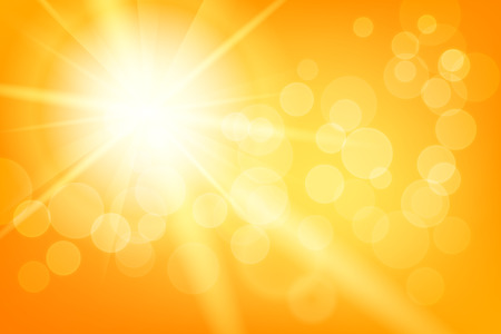 sunny day: Naturaleza soleado de verano abstracto con sol y bokeh
